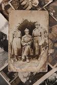 Vintage fotoğraf gösterir kızıl ordu askerlerinin, rusya federasyonu — Stok fotoğraf
