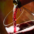Red wine being poured into wine glass — Stock Photo #9797257