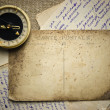 Vintage  postcard and letters - Stockfoto