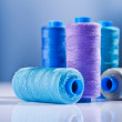 Stock Photo: Five sewing spools