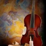Antic music background — Stock Photo