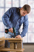 Young man in the work — Stock Photo