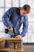 Hombre joven en el trabajo — Foto de Stock