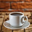 Single cup with coffee — Stock Photo