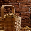 Peanuts in basket — Stock Photo