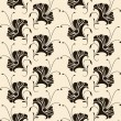 Seamless pattern with lilies — Cтоковый вектор