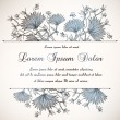 Stock Vector: Vintage floral invitation