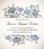 Vintage floral invitation — Stock Vector