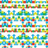 Castles on a white - seamless vector texture — Stock Vector