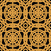 Ethnic gold interlaced - seamless vector pattern — Stock Vector