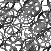 Seamless vector texture - watch gears — Stock Vector