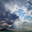 Royalty-Free Stock Photo: Sky over the sea with rays of sun
