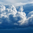 Royalty-Free Stock Photo: Large cumulus cloud - a panoramic photo