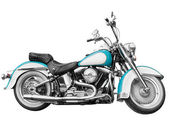 Vintage motorcycle - chopper on white — Stock Photo