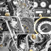 Collage de motocicletas fragmentos — Foto de Stock