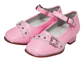 Pink shoes for girls on white — Stock Photo