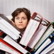 Stock Photo: Accountant swamped with financial documents