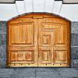 Large old wooden door — Stock Photo