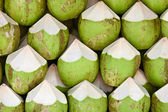 Coconuts to sell background — Stock Photo