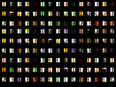 Seamless texture - night windows — Stock Photo
