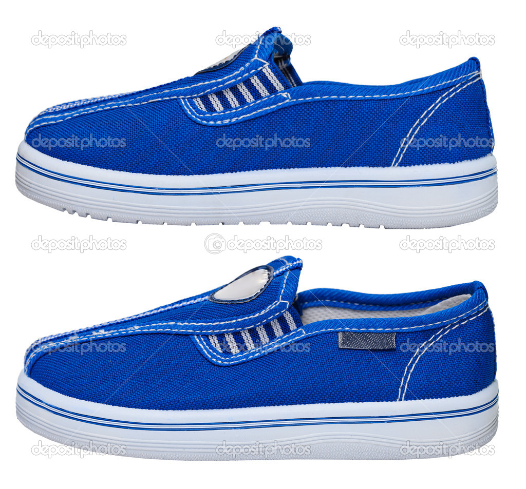 Sporting lightweight blue sneaker isolated on white background  Stok fotoraf #8989481