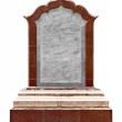 Large old granite slab - a monument - Foto Stock