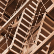Interlocking rusty industrial constructions — Stock Photo