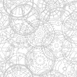 Seamless vector texture- time gears — Stockvektor