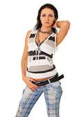 ファッショナブルな現代女性のジーンズ — ストック写真