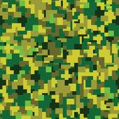 Vector texture - green summer camouflage — Stock Vector