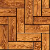 Naturalistic seamless texture - wooden parquet — Stock Vector