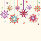 Vector illustration of an abstract snowflakes, flowers backgroun — Stock Vector