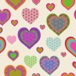 Royalty-Free Stock Vector Image: Vector illustration of a seamless heart pattern. Valentine