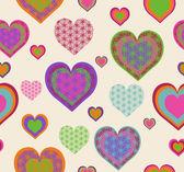 Vector illustration of a seamless heart pattern. Valentine — Stock Vector