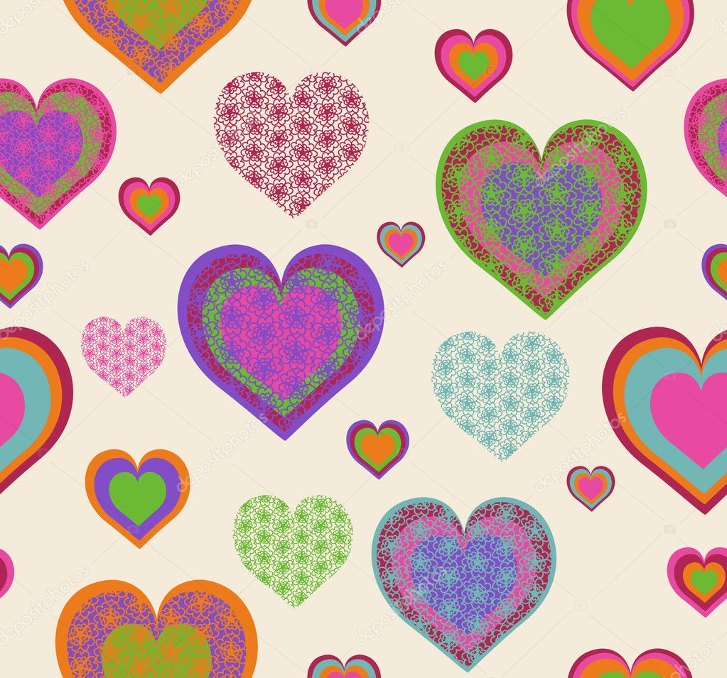 Vector illustration of a seamless heart pattern. Valentine's Day theme — Stock Vector #8377726