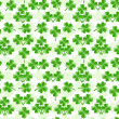 Vector illustration of seamless pattern with four leaves clover — Stock Vector