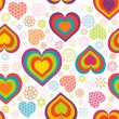 Vector illustration of a seamless heart pattern. Valentine — ベクター素材ストック