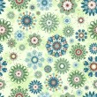 Vector illustration of a floral seamless pattern — Stock Vector