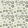 Flower seamless vector pattern.  The .eps includes seamless swa — Stock Vector