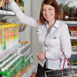 Woman in a supermarket — Stock Photo #10618757