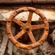 The old rusty metal valve — Stock Photo