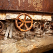 The old rusty metal valves — Stock Photo