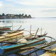 Philippines fishermans boats — Stock Photo