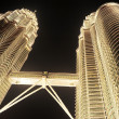 Petronas Twin Towers at night — Stock Photo
