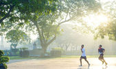 Running in Rizal Park — Stock Photo