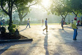 Walking in Rizal Park — Stock Photo