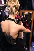 Fashion show. backstage — Stock Photo