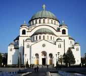 The Cathedral of Saint Sava — Stock Photo