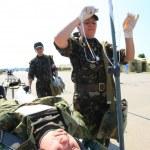 Military mobile hospital — Stock Photo