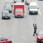 Road policeman — Stock Photo